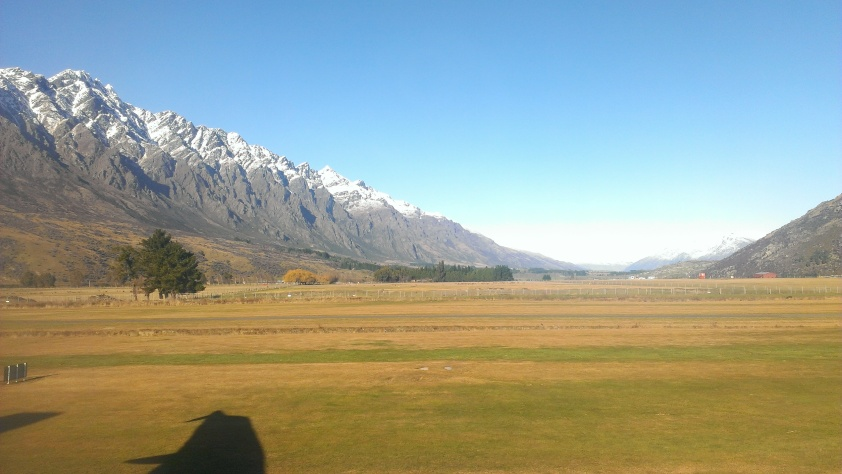 View from the Queenstown airport
